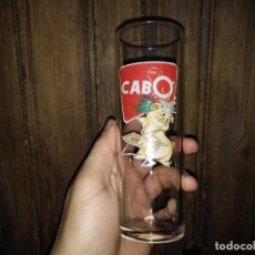 Coleccionismo Otros Botellas y Bebidas: VASO DE TUBO EMBUTIDOS CABO CERDO CRISTAL SERIGRAFIADO. Lote 145205898