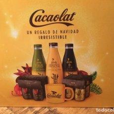 Coleccionismo Otros Botellas y Bebidas: CESTA NAVIDEÑA CACAOLAT UN REGALO DE NAVIDAD IRRESISTIBLE. Lote 145776318