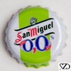 Coleccionismo Otros Botellas y Bebidas: TAPÓN CORONA - CHAPA - ESPAÑA - CERVEZA - SAN MIGUEL SIN ALCOHOL 0,0%. Lote 146562882