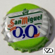 Coleccionismo Otros Botellas y Bebidas: TAPÓN CORONA - CHAPA - ESPAÑA - CERVEZA - SAN MIGUEL SIN ALCOHOL 0,0%. Lote 146565686