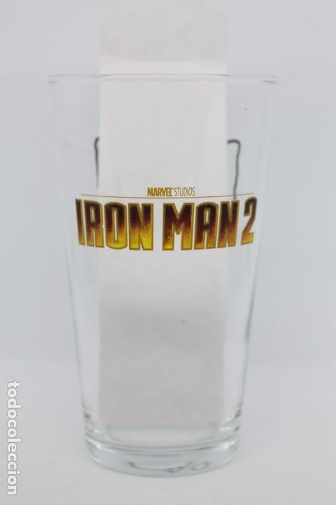 VASO IRON MAN 2 MARVEL BURGUER KING GLASS PELÍCULA SUPERHEROES COLECCIONABLES (Coleccionismo - Otras Botellas y Bebidas )