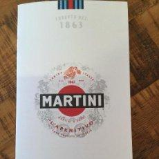 Coleccionismo Otros Botellas y Bebidas: CARTA PUBLICIDAD APERITIVO MARTINI MENÚ CÓCTEL. Lote 147006334