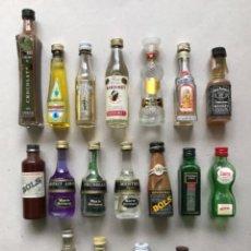 Coleccionismo Otros Botellas y Bebidas: LOTE DE DIECIOCHO MINI BOTELLAS. Lote 147402406