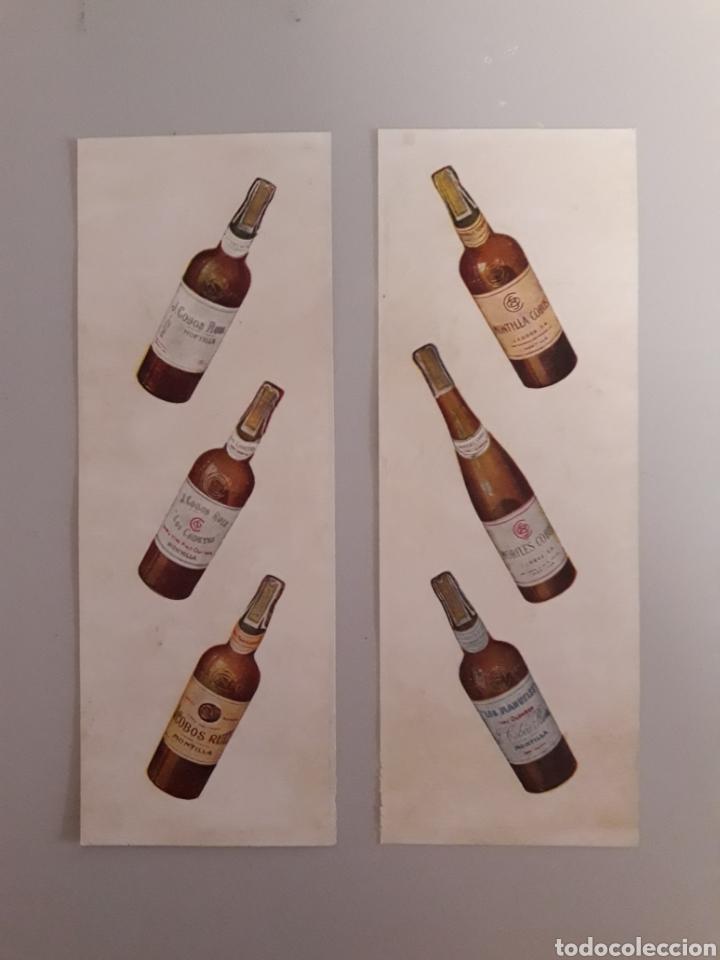 ANTIGUA PUBLICIDAD DE BOTELLAS DE VINO. (Coleccionismo - Otras Botellas y Bebidas )