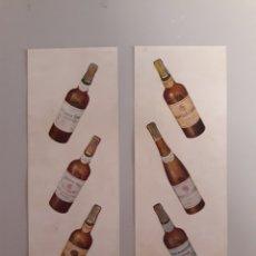 Coleccionismo Otros Botellas y Bebidas: ANTIGUA PUBLICIDAD DE BOTELLAS DE VINO.. Lote 147755225