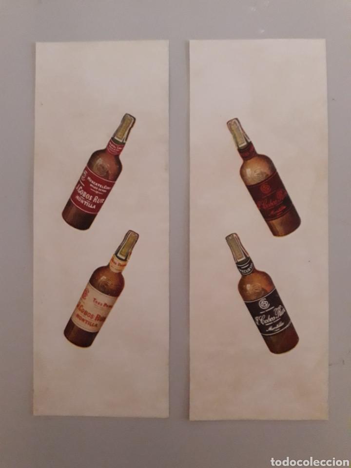 Coleccionismo Otros Botellas y Bebidas: ANTIGUA PUBLICIDAD DE BOTELLAS DE VINO. - Foto 2 - 147755225