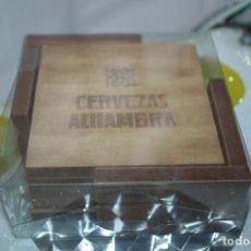 Coleccionismo Otros Botellas y Bebidas: 4 POSAVASOS ALHAMBRA DE MADERA 4. Lote 148160794