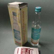 Coleccionismo Otros Botellas y Bebidas: BOTELLA CASI LLENA DE AGUA DEL CARMEN 56, CARMELITAS DESCALZOS, TARRAGONA. Lote 148182202