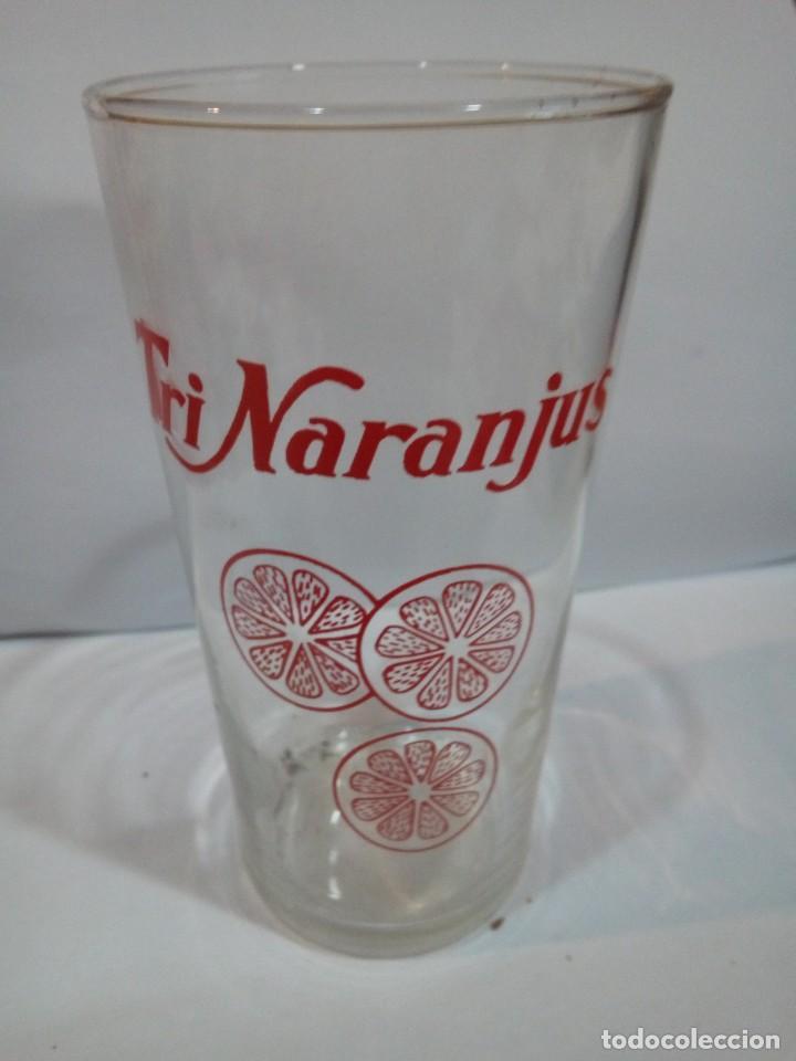 VASO DE PUBLICIDAD TRINARANJUS (Coleccionismo - Otras Botellas y Bebidas )