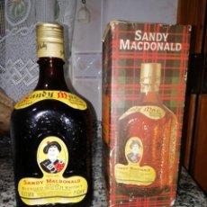 Coleccionismo Otros Botellas y Bebidas: WHISKY ESCOCES SANDY MACDONALD . Lote 148585686