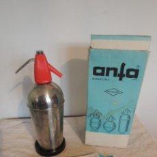 Coleccionismo Otros Botellas y Bebidas: SIFÓN ANFA MODELO FIESTA CON SU CAJA ORIGINAL. Lote 149513954