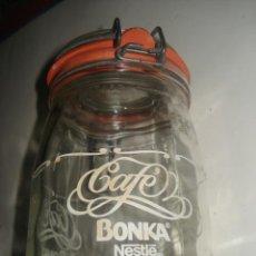 Coleccionismo Otros Botellas y Bebidas: TARRO CRISTAL CAFE BONKA. Lote 151506398