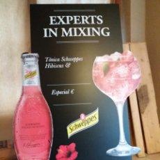 Coleccionismo Otros Botellas y Bebidas: PIZARRA SCHWEPPES RARA Y ESPECTACULAR NUEVA. Lote 152584786