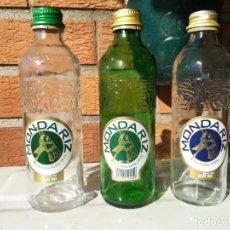 Coleccionismo Otros Botellas y Bebidas: LOTE TRES BOTELLAS AGUA MINERAL MONDARIZ, 330 CL. VACIAS. Lote 152615570