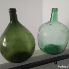 Coleccionismo Otros Botellas y Bebidas: ANTIGUAS GARRAFAS GRANDES DAMAJUANAS DE CRISTAL VINO AGUA MARCA BARCELONA Y VIRESA. Lote 152743954
