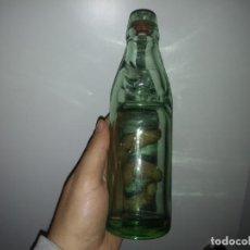 Coleccionismo Otros Botellas y Bebidas: ANTIGUA BOTELLA DEL AÑO 1920 DE BOLA BOLICHE CANICA CRISTAL TIPO CODD PARA GASEOSA. Lote 153428290