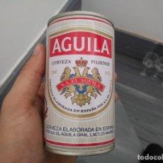 Coleccionismo Otros Botellas y Bebidas: LATA ACERO DEL AÑO 1987 EL AGUILA CARTEL COMPAÑÍA INTERNACIONAL DE COCHES CAMAS DE 33 CL DE CERVEZA. Lote 153453882