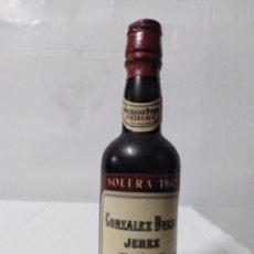 Coleccionismo Otros Botellas y Bebidas: BOTELLA MINIATURA SOLERA GONZÁLEZ BYASS JEREZ. Lote 154193068
