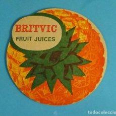 Coleccionismo Otros Botellas y Bebidas: POSAVASOS DE CARTÓN BRITVIC FRUIT JUICES. Lote 154368214