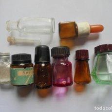 Coleccionismo Otros Botellas y Bebidas: LOTE 9 BOTELLAS MEDICINA - VACIAS. Lote 154982346