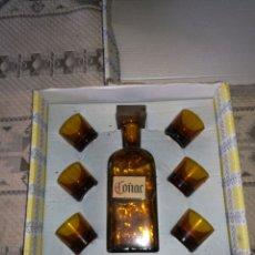 Coleccionismo Otros Botellas y Bebidas: JUEGO DE COÑAC. Lote 155141345