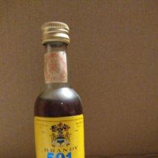 Coleccionismo Otros Botellas y Bebidas: BOTELLA MINIATURA BRANDY 501. Lote 155983893