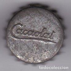 Coleccionismo Otros Botellas y Bebidas: ANTIGUA CHAPA DE CACAOLAT CON CORCHO. Lote 156512634
