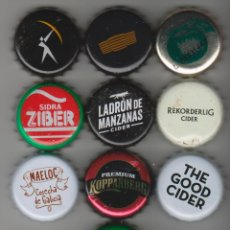 Coleccionismo Otros Botellas y Bebidas: 10 CHAPAS DIFERENTES SIDRA CIDER KRONKORKEN TAPÓN CORONA BOTTLE CAPS LOTE. Lote 156834630