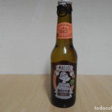 Coleccionismo Otros Botellas y Bebidas: BOTELLA SIDRA DULCE DE GALICIA MAELOC 33CL - CON CHAPA - EL LIQUIDO ESTA CADUCADO / NO CONSUMIR. Lote 156897614