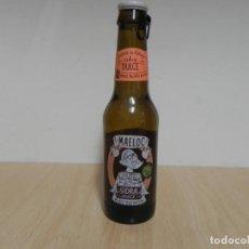 Coleccionismo Otros Botellas y Bebidas: BOTELLA SIDRA DULCE DE GALICIA MAELOC 33CL - CON CHAPA - EL LIQUIDO ESTA CADUCADO / NO CONSUMIR. Lote 156898054