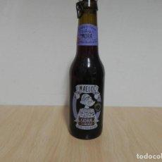 Coleccionismo Otros Botellas y Bebidas: BOTELLA SIDRA CON MORA / GALICIA MAELOC 33CL - CON CHAPA - EL LIQUIDO ESTA CADUCADO / NO CONSUMIR. Lote 156898410