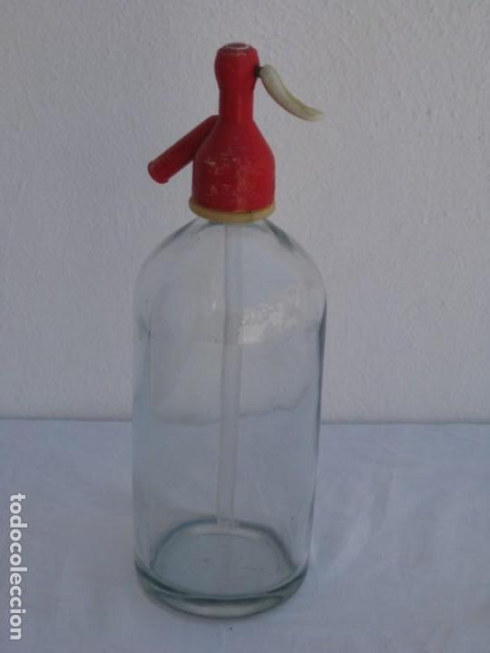 Coleccionismo Otros Botellas y Bebidas: Sifon de cristal. 30cm - Foto 5 - 157278046
