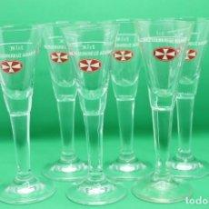 Coleccionismo Otros Botellas y Bebidas: CHUPITOS MALTESERKREUZ AQUAVIT SHOT GLASS LICOR LIQUER ALEMANIA GERMAN 2CL. Lote 157809138