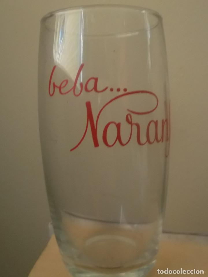 Coleccionismo Otros Botellas y Bebidas: Vaso refresco Naransol. Publicidad serigrafía color rojo - Foto 2 - 158788862