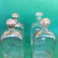 Coleccionismo Otros Botellas y Bebidas: J. JUEGO DE BOTELLAS DE CRISTAL. LICOR. JERÉZ.. Lote 159909014
