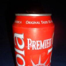 Coleccionismo Otros Botellas y Bebidas: LATA COLA PREMIER ORIGINAL TASTE OF AMERICA 33 CL 1998. Lote 160346746