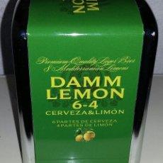Coleccionismo Otros Botellas y Bebidas: SERVILLETERO METÁLICO DAMM LEMON 6-4 CERVEZA&LIMÓN. NUEVO.. Lote 161181914