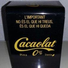 Coleccionismo Otros Botellas y Bebidas: SERVILLETERO METÁLICO PUBLICIDAD CACAOLAT 0%. NUEVO.. Lote 161182374