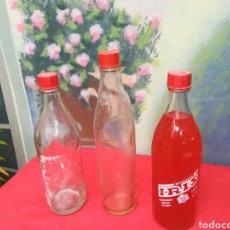Coleccionismo Otros Botellas y Bebidas: 3 BOTELLAS ANTIGUAS DE REFRESCOS IRIS. Lote 161843289