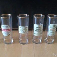 Coleccionismo Otros Botellas y Bebidas: LOTE DE SEIS VASOS TUBO MARCAS DE WHISKY PUBLICIDAD. ALTURA 16 CM (APROX). Lote 162717314