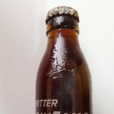 Coleccionismo Otros Botellas y Bebidas: BOTELLIN BITTER CINZANO SODA SERIGRAFIADA SIN ABRIR CON SU CHAPA ORIGINAL (2). Lote 163529902