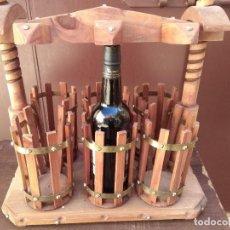 Coleccionismo Otros Botellas y Bebidas: BOTELLERO DE MADERA TIPO PRENSA , A ESTRENAR. Lote 163551306
