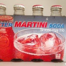 Coleccionismo Otros Botellas y Bebidas: LOTE DE 4 BOTELLINES DE BITTER MARTINI SODA.. Lote 163634024