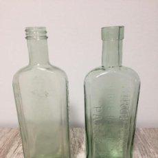 Coleccionismo Otros Botellas y Bebidas: BOTELLAS ANTIGUAS DE CRISTAL SIROP FAMEL Y CLAVITAM. Lote 164606402