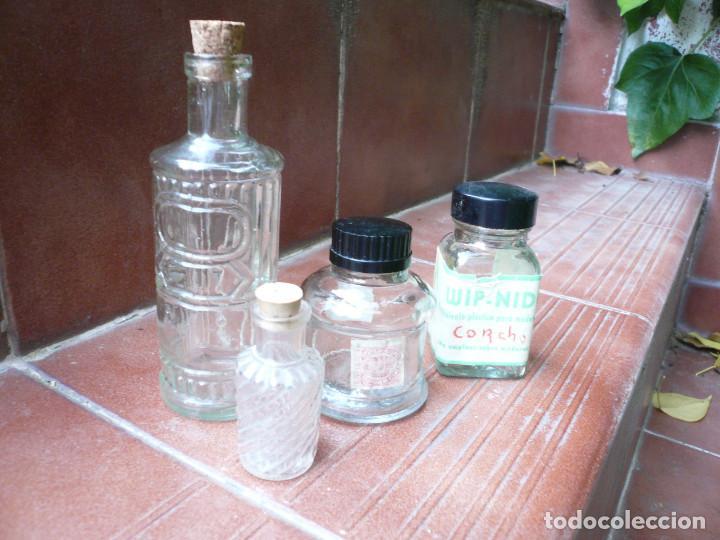 Coleccionismo Otros Botellas y Bebidas: LOTE DE 4 ANTIGUOS FRASCOS DE CRISTAL. LEER DESCRIPCIÓN - Foto 2 - 164767890