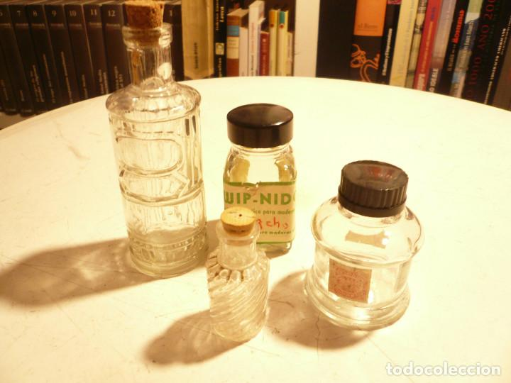 Coleccionismo Otros Botellas y Bebidas: LOTE DE 4 ANTIGUOS FRASCOS DE CRISTAL. LEER DESCRIPCIÓN - Foto 16 - 164767890