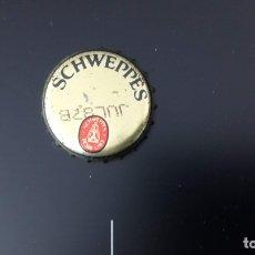 Coleccionismo Otros Botellas y Bebidas: CHAPA SCHWEPPES TONICA / CHAPA / MITAD DE LOS 80 CON FECHA DE CADUCIDAD 1987. Lote 49686899
