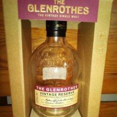 Coleccionismo Otros Botellas y Bebidas: MALT SCOTCH WHISKY GLENROTHES. VINTAGE RESERVE, BOTELLA Y CAJA (VACIA ). Lote 166261474