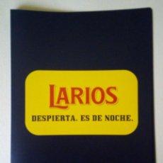 Coleccionismo Otros Botellas y Bebidas: LARIOS - PUBLICIDAD - CARPETA ARCHIVADORA. Lote 166753686