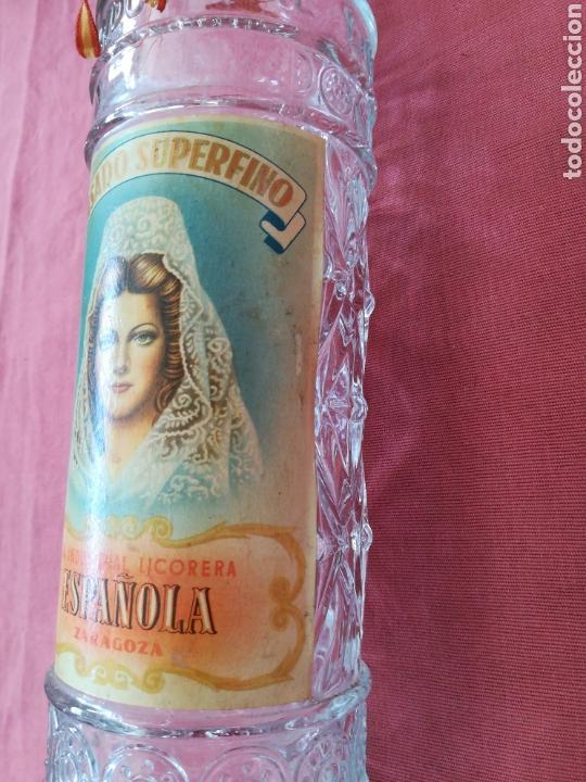 Coleccionismo Otros Botellas y Bebidas: BOTELLA ANIS LA INDUSTRIAL LICORERA ESPAÑOLA - ZARAGOZA - CON SU ETIQUETA - Foto 5 - 167510412